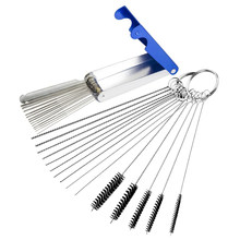Carburetor Carbon Dirt Jet Remove Cleaning Needles Brushes Cleaner Tools for Automobile Motorcycle ATV Welder Carb Chainsaw