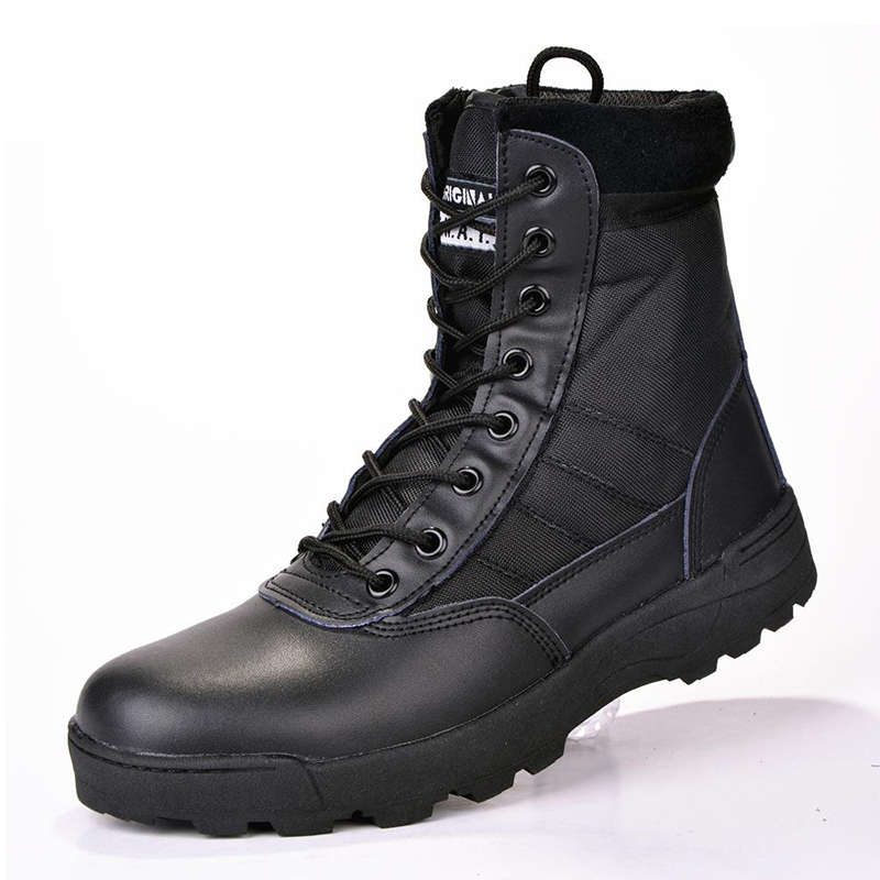 New Men Boots Winter Shoes Men Leather Boots Military Army Boots For Men Shoes Winter Desert Combat Boots Male Ankle Botas 45 46
