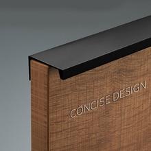 Скандинавский ящик дверная ручка шкафа из алюминиевого сплава современный минималистичный черный цвет, для шкафов Пробивка Невидимый шкаф с длинной ручкой