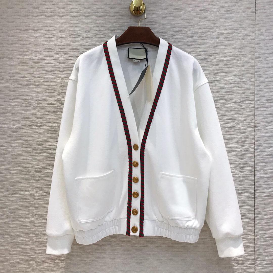 2019 mode de piste en coton décontracté femmes col en v poches à boutonnage unique Top qualité automne manteaux vestes Outwear