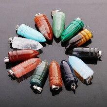 Fubaoying 50 قطعة مجموعة رصاصة الحجر الطبيعي قلادة قلادة أقراط شحن مجاني Charms لصنع المجوهرات