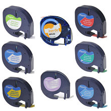 Fabric-Tape Lt-Labels DYMO Plastic LT100H Letratag-Plus Paper Compatible with 100T Lt100h/Qx50/Lt-labels/..