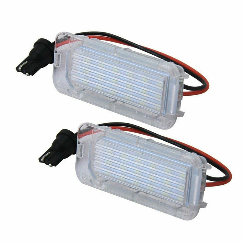 2PCS 18-SMD LED License Plate Lights Error Free For Ford Explorer Escape Fusion MKC