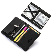 Upscale Upgrade Ultra Thin Mini Wallet Men Women Business PU Leather
