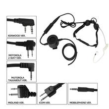 Tactical headset throat microphone vacuum sound CS portable neckline + walkie talkie PTT tactical TCI