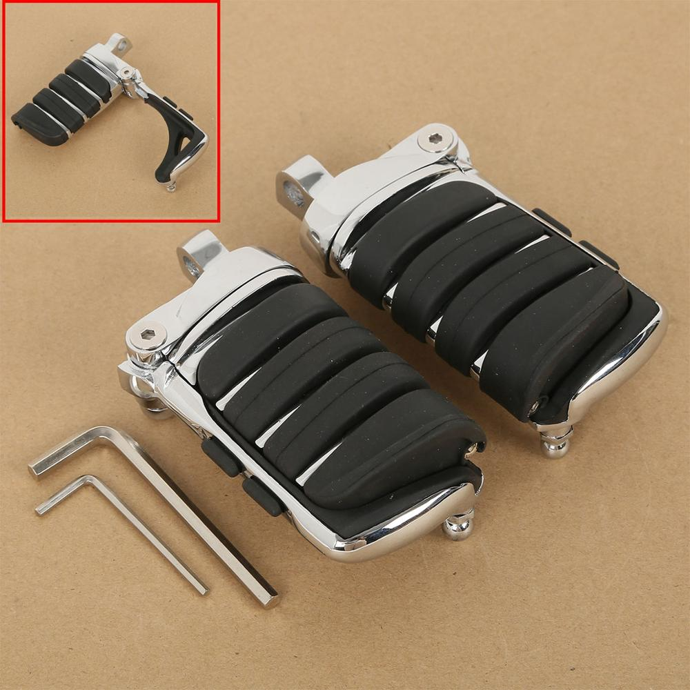 Motorcycle Switchblade Male Mount Foot Pegs For Harley Touring Softail Fatboy Dyna Sportster XL 4445 New