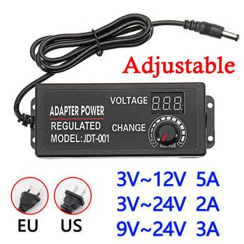 AC do DC 3V-12V 3V-24V 9V-24V regulowany zasilacz uniwersalne zasilacze z ekranem wyświetlacza z regulacją napięcia tanie i dobre opinie Vieruodis 5 5mm * 2 5mm Przełączania Podłącz Adjustable Power Supply Adapter Universal Power Supply Adaptors Adjustable Adapter With Display Screen Of Voltage