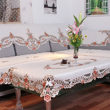 Lychee European Style Embroidery Table Cloth Simple Pink Rectangle Cover Home Wedding Birthday Party Tablecloth