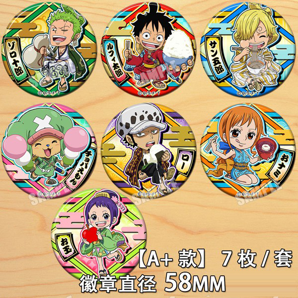 Japan Anime ONE PIECE Monkey D. Luffy Roronoa Zoro Badge Button Brooch Medal Collect Backpacks Badge Pendant Cosplay Costumes