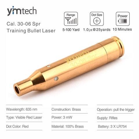 calibre vermelho 30 06 spr da bala do instrutor do laser 25 06 spr 270win