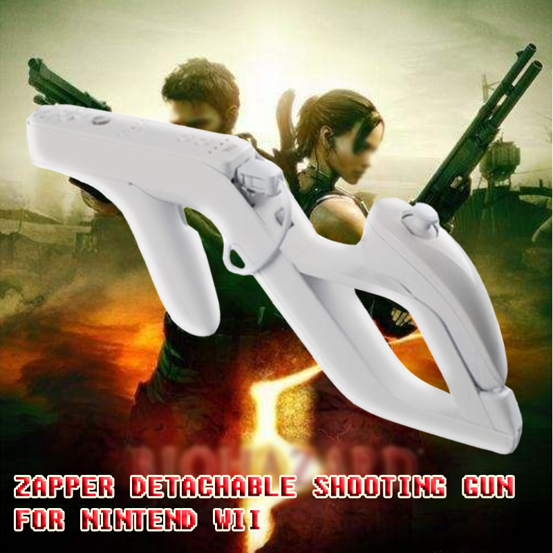 2PC Shooting Games Wii Zapper Gun Controller Toy Shooting Gun for Nintendo Wii resident Evil Nunchuk Motion Plus Control remoto image