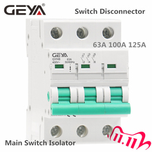 GEYA GYH8 Three Phase Main Switch 63A 100A 125A Isolating switch for Home or Industrial Use Circuit Breaker 400V