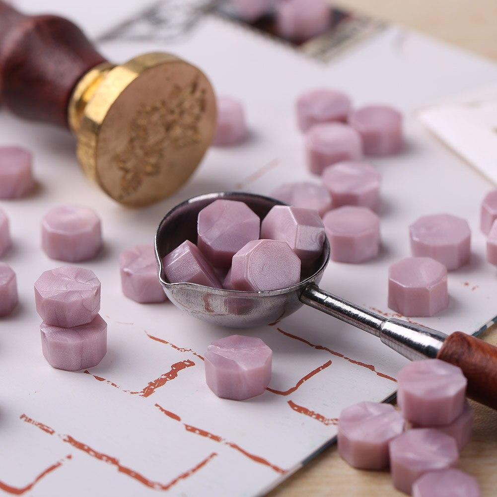 60/100pcs Octagon Vintage Sealing Wax Granule Vintage Bead Customs Wedding Stamping Crafts DIY Decorative Accessories