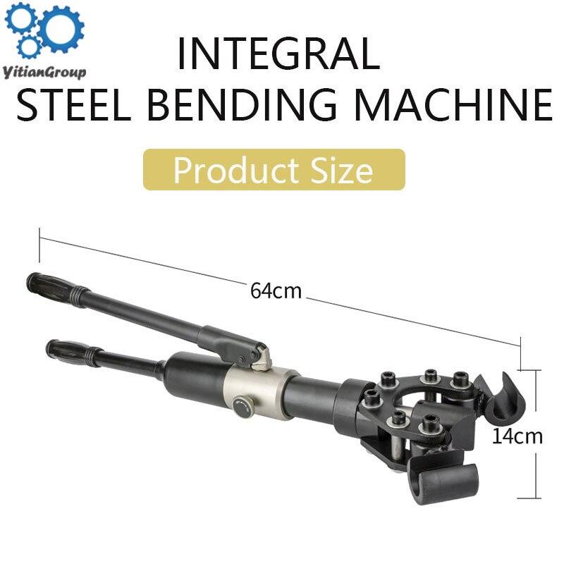 Manual Hydraulic Steel Bending Machine Electric Handhold Rebar Round Steel Handhold Bending Machine Bending Hoop Small