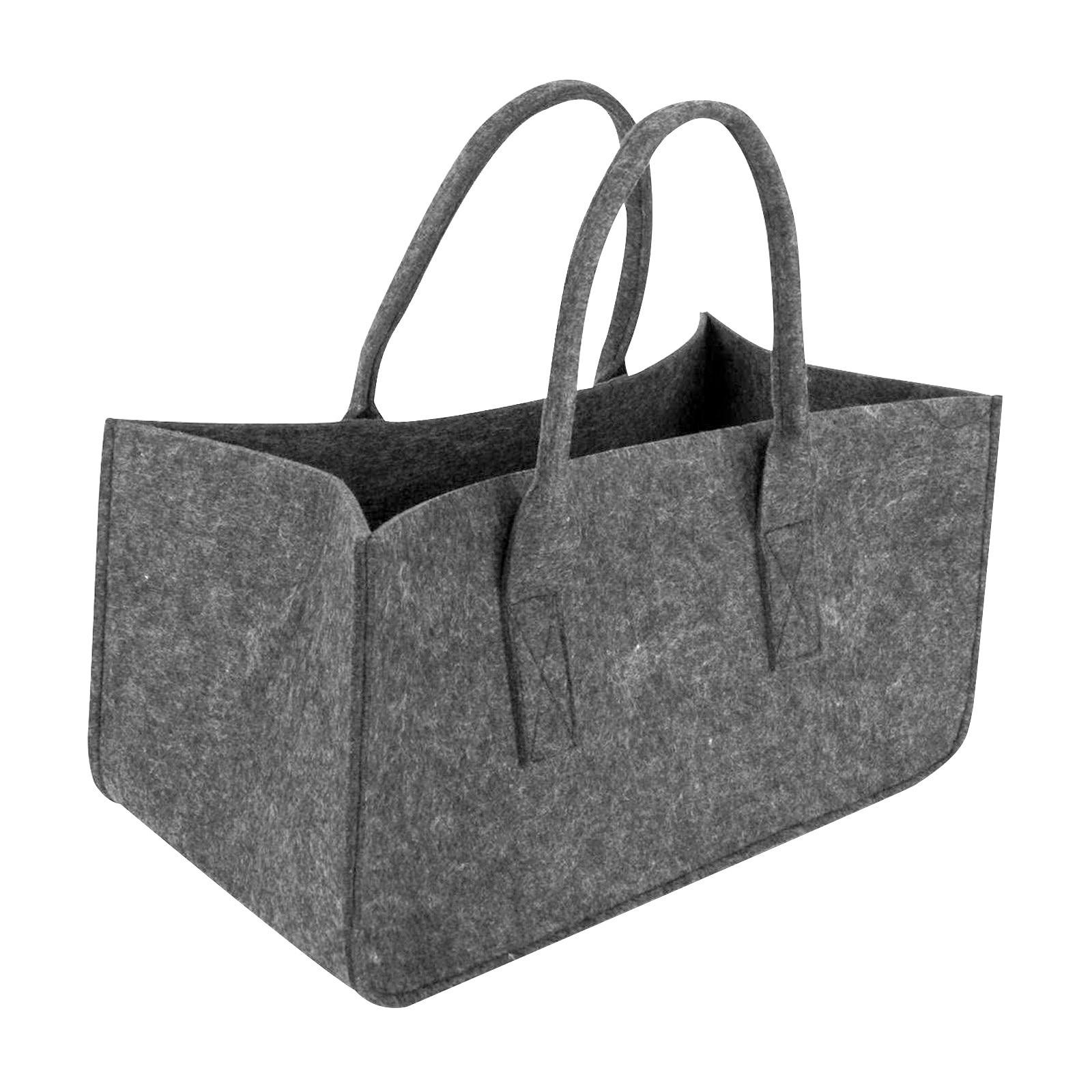 Сумка 4 #, темно-серая сумка для хранения дров, стойка для газет, корзина для газет, фетровая сумка большой вместимости, сумка для покупок, сум...