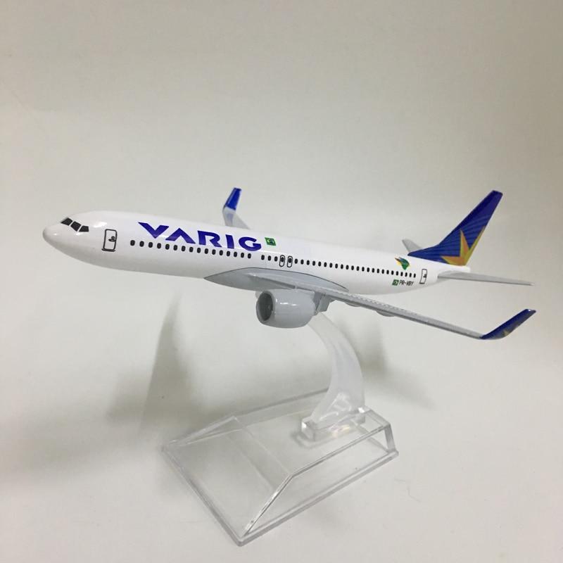 JASON TUTU 16cm BRAZIL VARIG Boeing 737-800 Aircraft Model Diecast Metal 1:400 Plane Model Airplane Model Airplanes Plane Toys