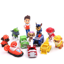 Paw Patrol toys set Dog Puppy Patrulla Canina Action Figures vinyl doll Toy Kids Children Toys Paw Patrol birthday Gifts