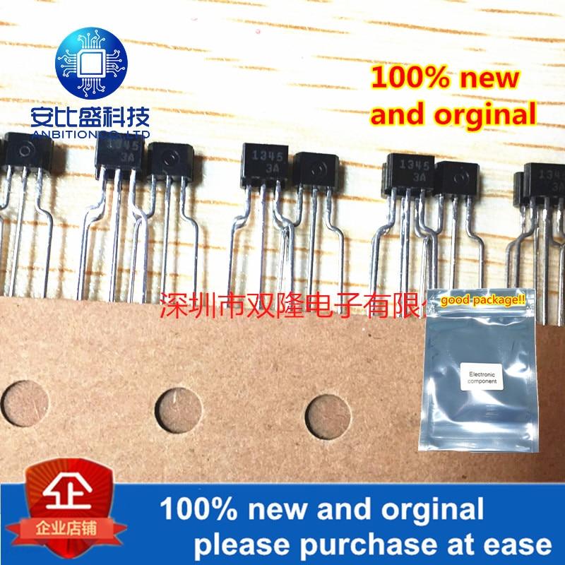 10pcs 100% New And Orginal 2SA1345 A1345 TO-92 PNP 0.1A 50V  In Stock