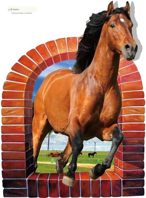 sk90743d стикер на стену лошадь спальня гостиная крыльцо тв фотография