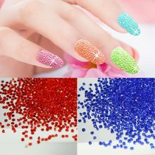 цена на 1pack Nail Rhinestone 3D DIY Designs1.1mm Crystal Glass Nail Art Decorations Micro Diamonds Manicure Tools Accessories