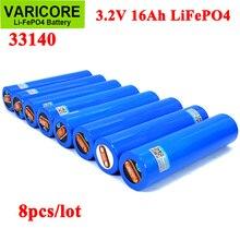 8個varicore 3.2v 33140 15Ah lifepo4細胞リチウム鉄phospha 16000用12v 24v電動自転車e スクーターパワーツールバッテリーパック