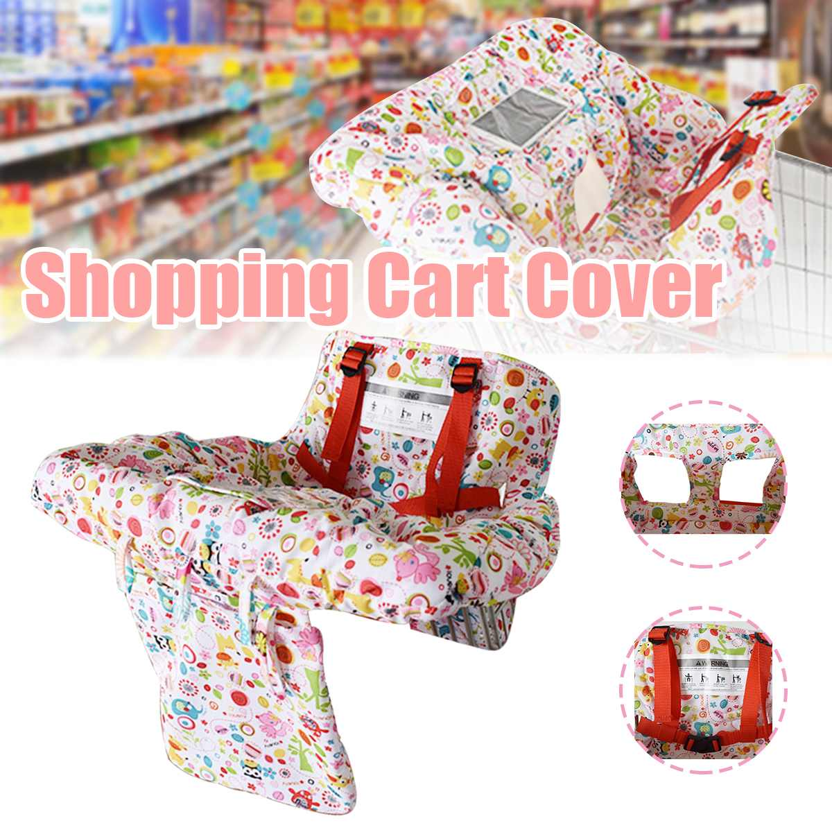 Multi-functional Baby Children Folding Shopping Cart Cover Baby Soft Warm Shopping Push Cart Protection Cover Car Seats Mat