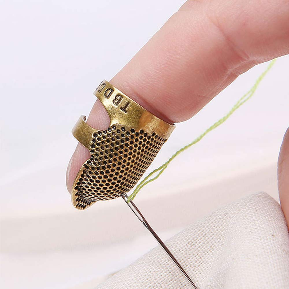 1Pcs Copper Brass Sewing Thimble Finger Protector Metal Shield Protector Pin Needlework Quilting Stitch Craft Sewing Accessories