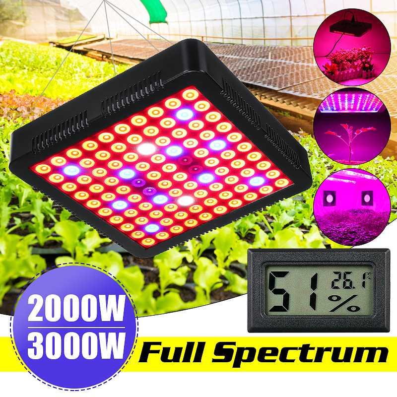 New 3000/2000W Full Spectrum LED Plant Grow Light Lamps For Flower Plant Veg Hydroponics System Growing Lamp US/EU Plug