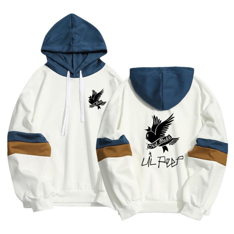 Spring Summer Harajuku Kawaii Cry Baby Lil Peep Hoodies Men Women Hip Hop Streetwear Patchwork Pullover Sweatshirt Sudadera