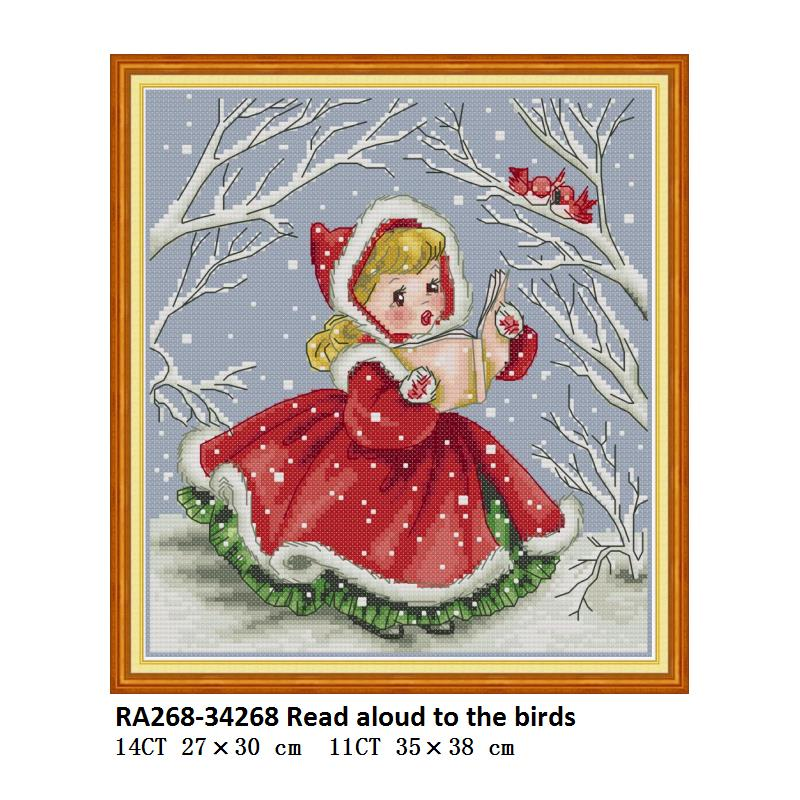 Joy Sunday Counted Cross Stitch Kits 14CT Unprinted Easy Patterns Antlers DMC Cross-Stitch Supplies Needlework beginer 17x21