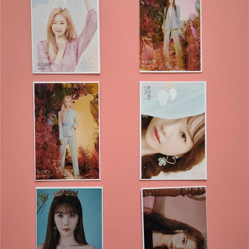 16Pcs/set KPOP IZONE Girls Team Album BLOOM IZ Photo Card PVC Cards Self Made LOMO Card Photocard