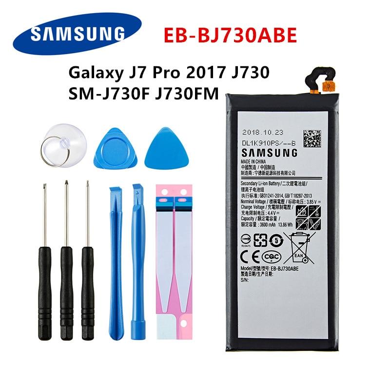 SAMSUNG Orginal EB-BJ730ABE 3600mAh Battery For Samsung Galaxy J7 Pro 2017 SM-J730 SM-J730FM J730F/G J730DS J730GM J730K +Tools