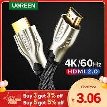 UGREEN kabel HDMI 4K/60Hz HDMI kabel splittera dla Xiaomi Mi Box HDMI 2.0 kabel Audio przełącznik Splitter do Tv, pudełko PS4 kabel HDMI
