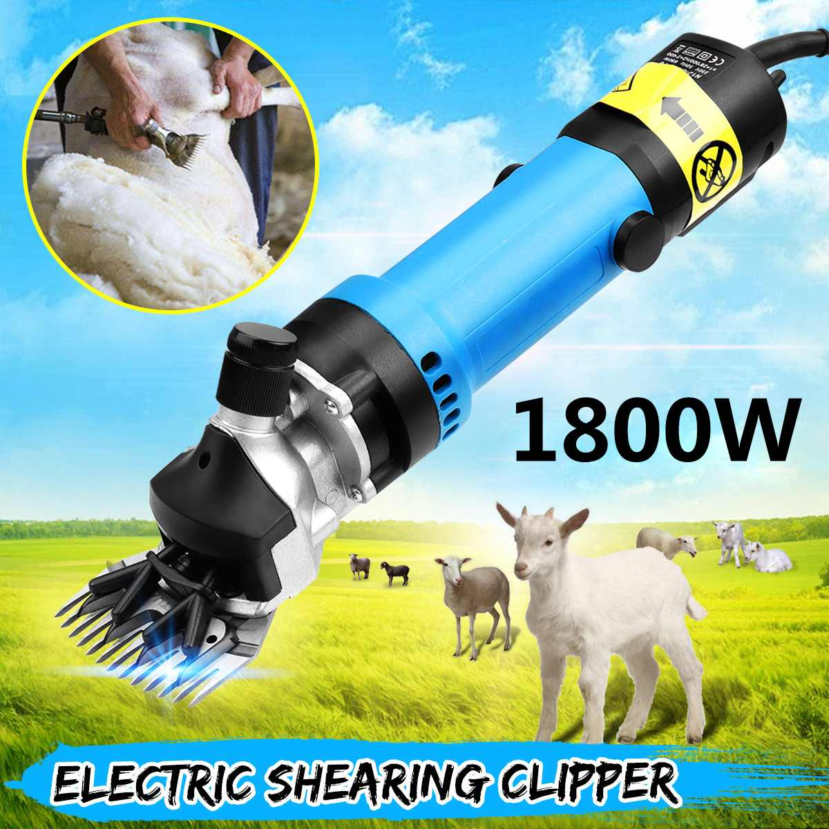 1800W 220V Flexible Shaft Electric Sheep Goat Pruning Shearing Machine Clipper Shears Cutter Wool Scissor 6 Speed Adjustable