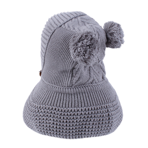 Image 2 - Connectyle 2019 New Style Toddler Infant Boys Girls Winter Warm Hat Cute Thick Earflap Hood Hat Scraves With Pom Pom