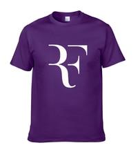 2021 kreatywny projekt RF roger federer logo t shirt solidna kolorowa bawełniana koszulka męska New Arrival Style męska koszulka z krótkim rękawem