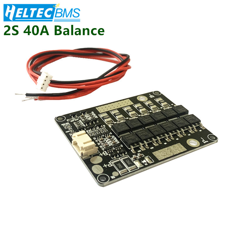 <font><b>2S</b></font> <font><b>40A</b></font> <font><b>BMS</b></font> balanced 7.4V 8.4V li-ion NCM <font><b>BMS</b></font>/3.2v lifepo4 Lithium iron phosphate battery protection board image