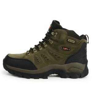 Image 3 - Outdoor Waterproof Hiking Boots Men Women Winter Shoes Walking Jogging Hiking Shoes Mountain Sport Boots Climbing Mens Sneakers