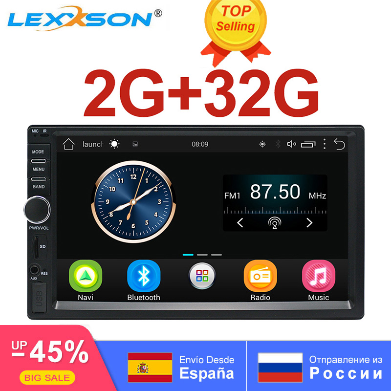 Reprodutor multimídia Carro 2G + 32 2Din G GPS Android Som Do Carro de Áudio e Vídeo Da Música MP3 MP4 Wi-Fi Bluetooth 7 polegada TouchScreen SWC FM USB