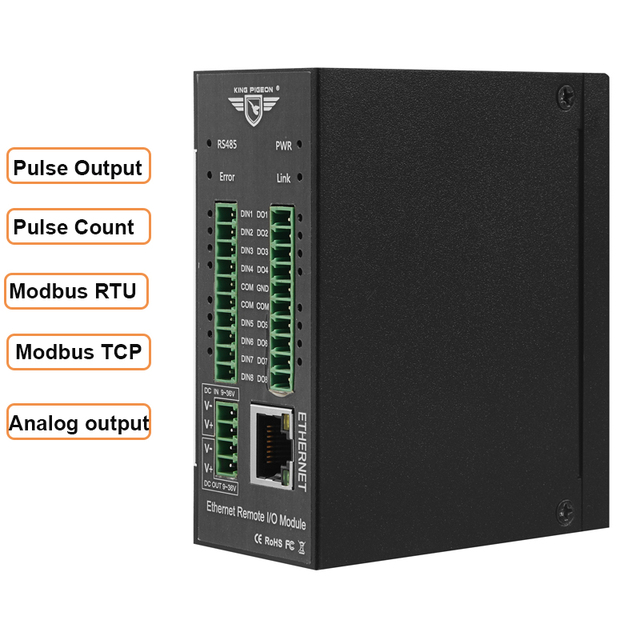 Modbus TCP Ethernet Remote IO Module for Fieldbus Automation Built in Watchdog Supports register mapping M120T