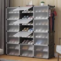 Organizer Stackable minimalist Plastic Cube Storage Shelves Multifunctional Modular Closet Cabinet Bedroom Living Room HWC