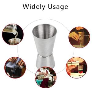 15/30ml or 25/50ml Stainless Steel Double Sided Cocktail Measure Measuring Cup Gadgets Bartend Cup Liquor Jigger Kitchen Sh Z5U2