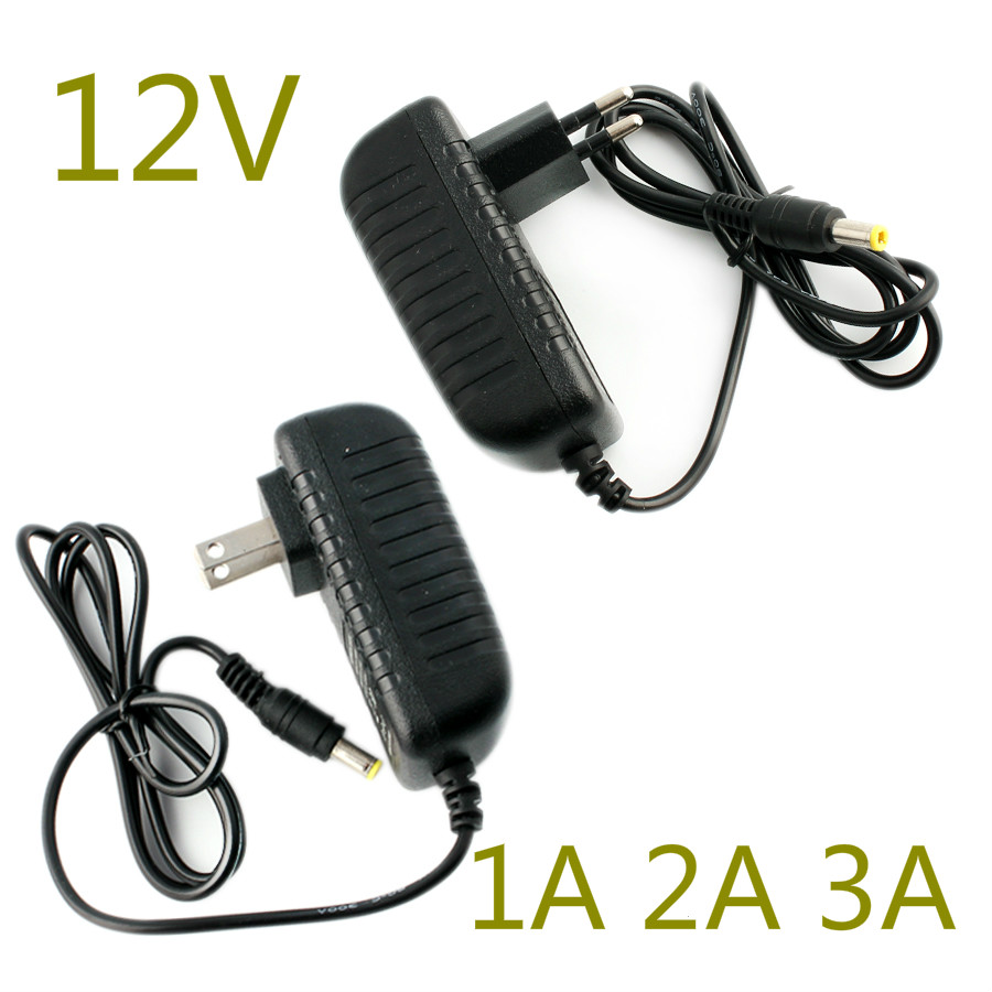<font><b>Adapter</b></font> 12V Power Supply <font><b>Adapters</b></font> 220V AC to <font><b>DC</b></font> Adaptor <font><b>12</b></font> <font><b>v</b></font> volt 1A 2A 3A Charger power Switching Supply EU Plug For Led Strip image