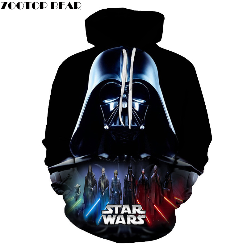 New Star Wars Hoodies Darth Vader Anime Design Sweatshirts Men Hooded Tracksuits Fashion 3D Print Design Hoody Brand Pullover