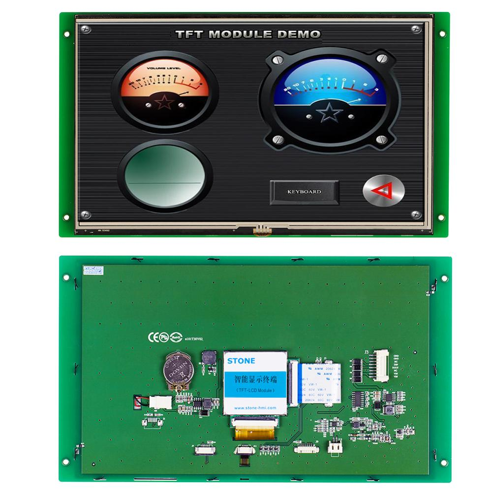 STONE 10.1 Inch HMI Intelligent Programmable Touch Screen With RS232/RS485/TTL For Equipment Use