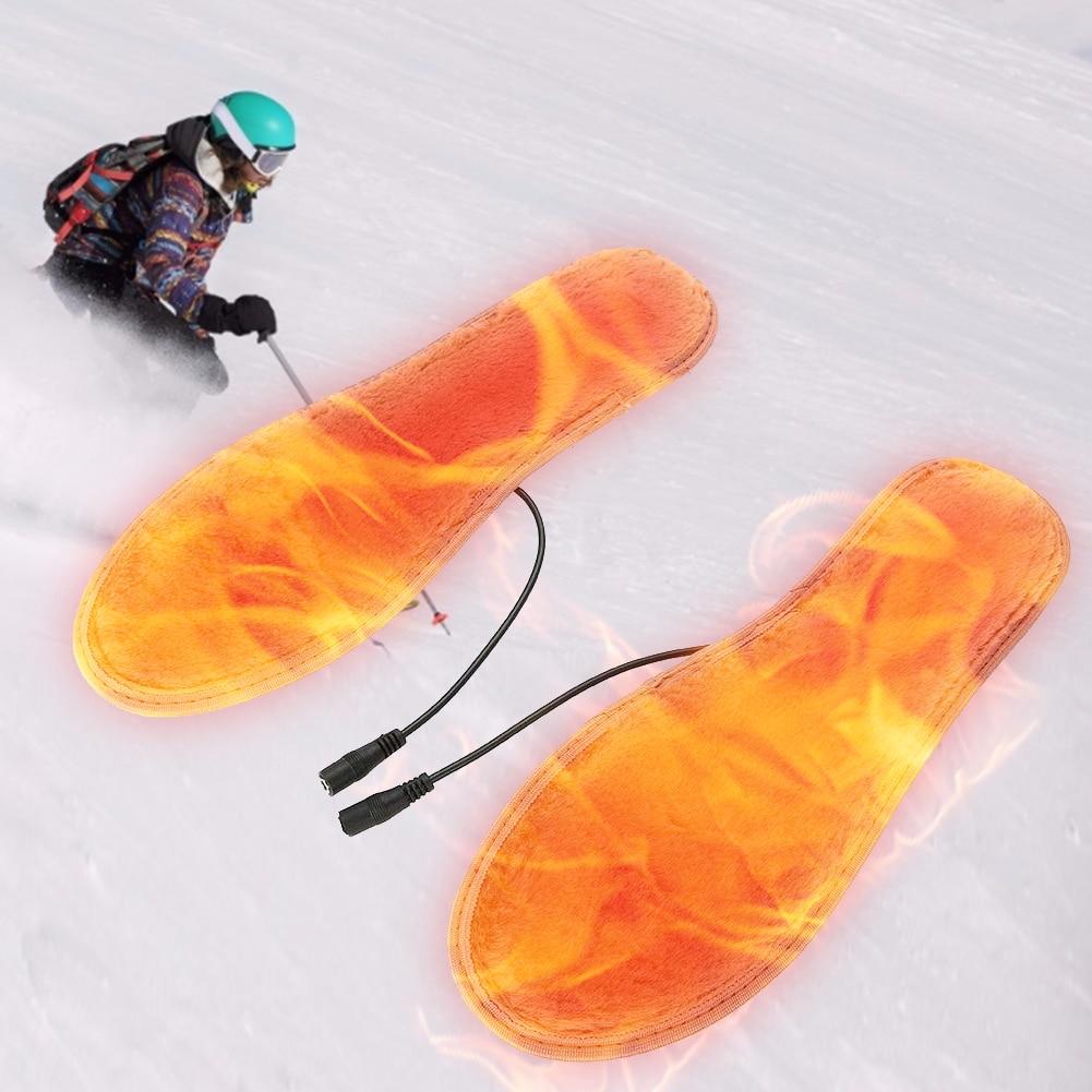 1 пара USB с подогревом обувь стельки стопа утеплитель подушка ноги утеплитель носок коврик коврик зима открытый спорт обогрев стельки зима утеплитель подошва