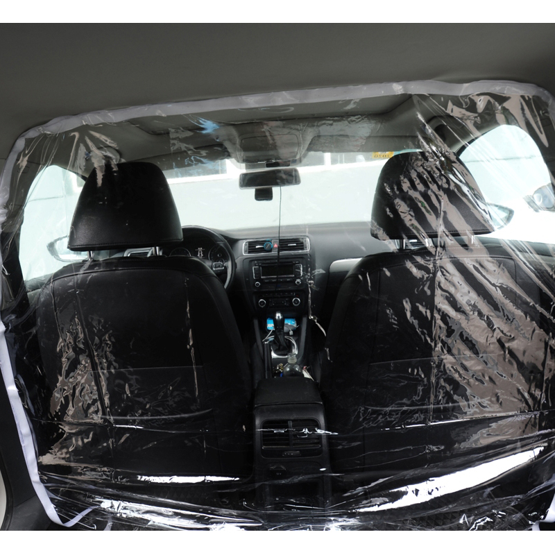 Full Surround Protective Cover Car Taxi Isolation Film Plastic Net Cab Front And Rear Row For Driver And Passenger Protection