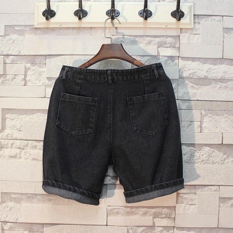 Top Quality Men Summer Knee Length Beach Jeans Shorts Slim Fit Casual Streetwear Trousers Denim Shorts Cowboy New Short Bermudas