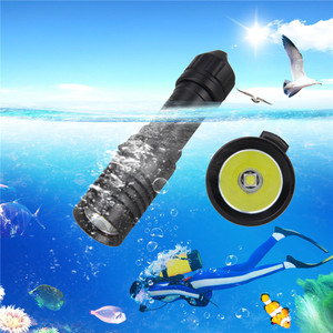 Image 1 - 5000 lm XM L2 LED latarka do nurkowania latarka 18650 lekka podwodna 100m latarka wędkarska Strip użyj 18650/26650 Batterys