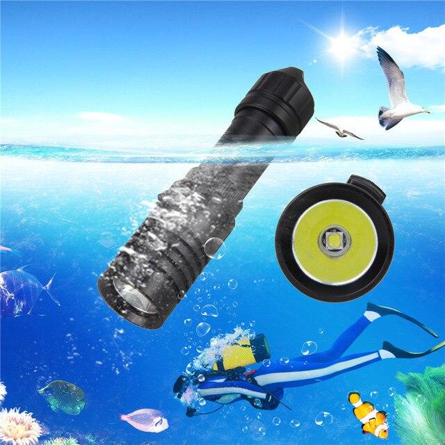 5000LM XM L2 LED Scuba Diving ไฟฉายไฟฉาย 18650 ใต้น้ำ 100 M ไฟฉาย Strip 18650/26650 แบตเตอรี